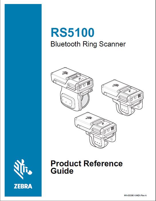 プロダクトリファレンスガイド(英語) ZEBRA RS5100 Bluetoothリングスキャナ